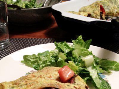 Kira Nam Greene Chard and Saffron Omelette with Crème Fraîche