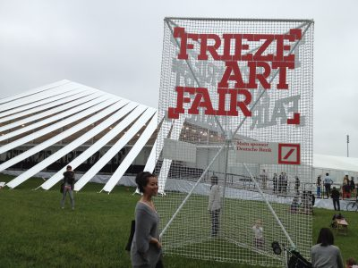 Kira Nam Greene Frieze: White Alien Tent That Landed in Randall's Island
