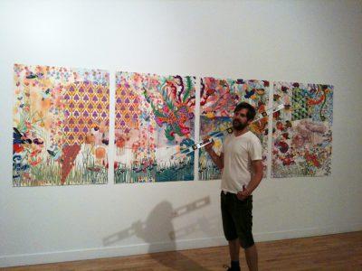 Kira Nam Greene Installing at Bronx Museum