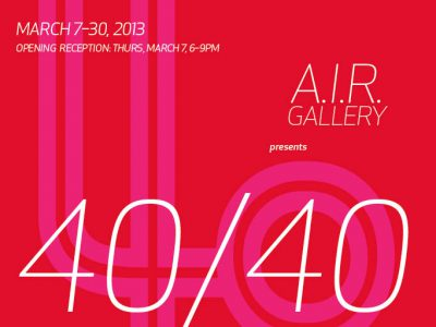 Kira Nam Greene Participating in A.I.R. Gallery 40th Anniversary Show